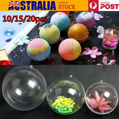 50/60/70/80mm Plastic Round Ball Sphere Bath Bomb Mold Mould Kitchen AU Stock