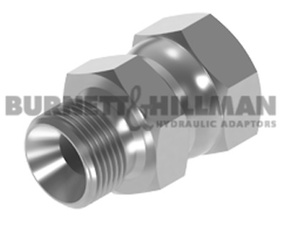 "Burnett & Hillman M22 Male 1.5mm pitch x JIC 9/16"" Swivel Female Adaptor 