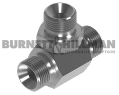 "BSP Male Tee for Bonded Seal HEXAGON INSERT 1/4"" x 1/4"" x 1/4"""