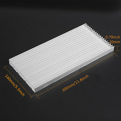 Aluminum Heat Sink 300*140*20MM Cooling Heatsink for High Power LED Light EB