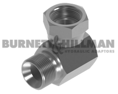 Burnett & Hillman BSP Male for Bonded Seal x BSP Swivel Female 90° Compact Elbow