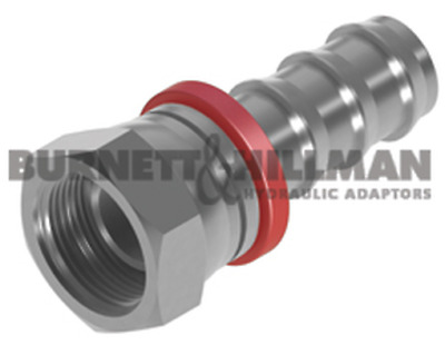 Burnett & Hillman BSP Swivel Female x Push-In Straight Hydraulic Fitting