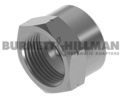 Burnett & Hillman METRIC Crimp Nut 1.5mm Pitch Hydraulic Fitting