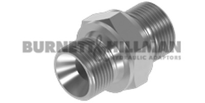 "Burnett & Hillman BSP 3/8"" Male x BSP 1/2"" Male To DIN 3852 FORM A 