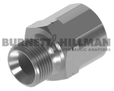 Burnett & Hillman Hydraulic METRIC Male x BSP Fixed Fem Extended Adaptor | 4-25