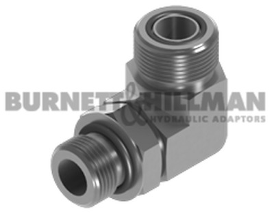 Burnett & Hillman ORFS Male x UNF Male 90° Positional Forged Elbow Adaptors