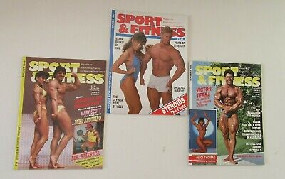 Sport & Fitness Bodybuilding Magazine August 1986, September 1986 & March 1987