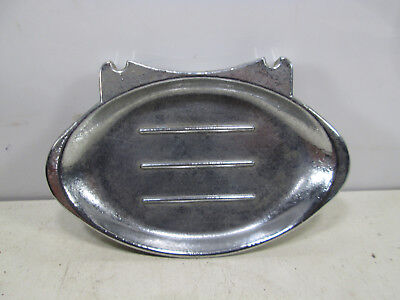 Vintage Chrome? Plated Bathroom Soap Dish- (non magnetic)