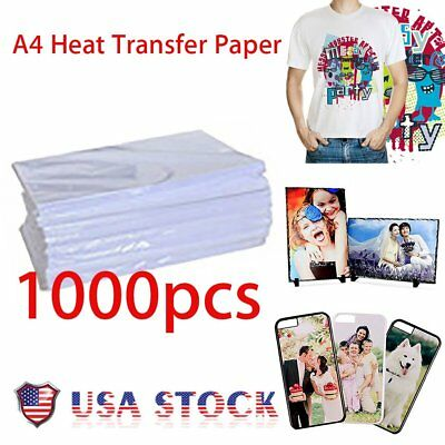 1000 Sheets A4 Dye Sublimation Heat Transfer Paper for Mug Cup Plate T- Shirt S2