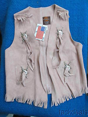 New Craighead USA Maker Youth Girls Vintage Western Vest Pink Size 12