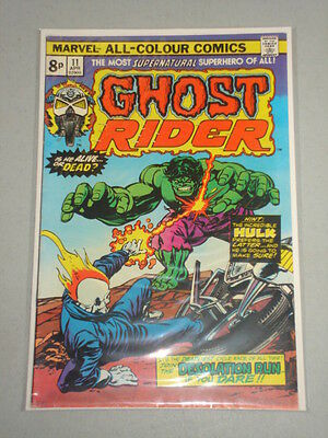 Ghost Rider #11 Fn (6.0) Vol 1 Marvel Comics Hulk Apps April 1975