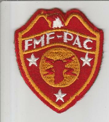 WW 2 USMC FMF-PAC Headquarters Patch Inv# S691