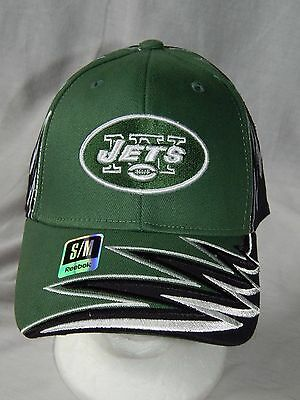 a2b9c168f9e New York Jets NFL Football Hat Stretch Fitted Cap Reebok Headwear MEN S  Size S M