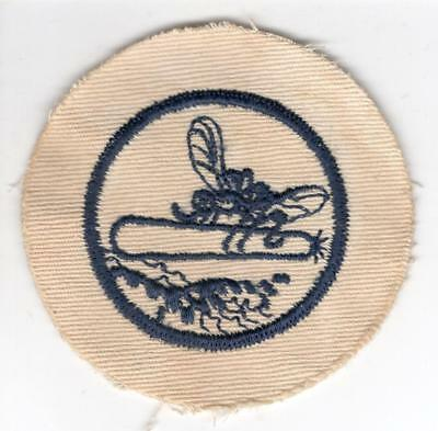 WW 2 US Navy Mosquito Boat White Twill Patch Inv# Z441