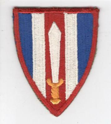 WW 2 US Army European Civil Affairs Red Border Patch Inv# V787