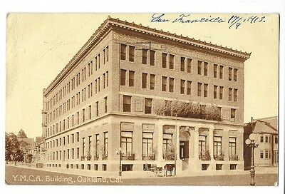 1913 Printed Photo Postcard ~ YMCA Building, Oakland, California