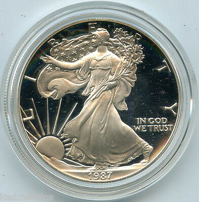 1987-S American Eagle One Ounce Proof Silver Bullion Coin - US Mint Official