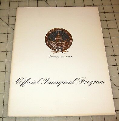 1969 RICHARD M. NIXON - Agnew Official Inauguration Program in VG Condition