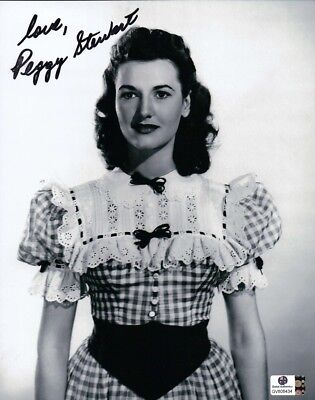 Peggy Stewart Signed Autographed 8X10 Photo Vintage Actress GV806434