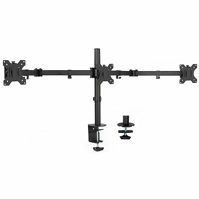 VIVO Triple Monitor Adjustable Mount Articulating Stand for 3 Screens up to 24""