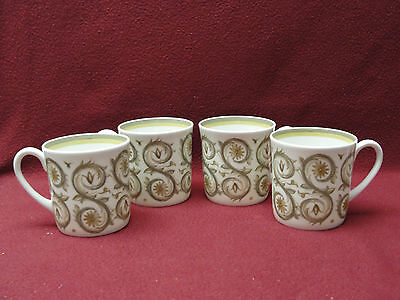 FOUR (4) WEDGWOOD CHINA by SUSIE COOPER - VENETIA Pattern - CUPS / MUGS