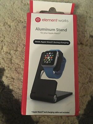B73 NEW Element Works Folding Aluminium Charging Stand for Apple Watch-Black