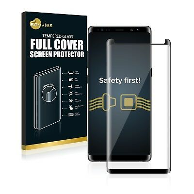 Full Screen Cover Panzerglas schwarz für Samsung Galaxy Note 8 3D Curved