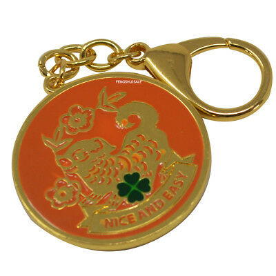 Fengshui 12 Animals Wish Geanting Amulet Keychain (DOG)  W3352