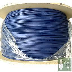 7mm HT Ignition Spark Plug Lead Cable - Carbon Silicoln Blue
