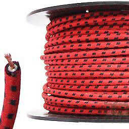 30 Meter Roll 7mm HT Ignition Lead Cable - Wire Core Cotton Braided RBF