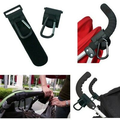 Buggy Clips Black Pram Pushchair Stroller Shopping Bag Hook Mummy Carry Clip USA