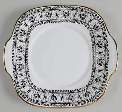 Crown Staffordshire VICTORIA BLACK Square Handled Cake Plate 1150232