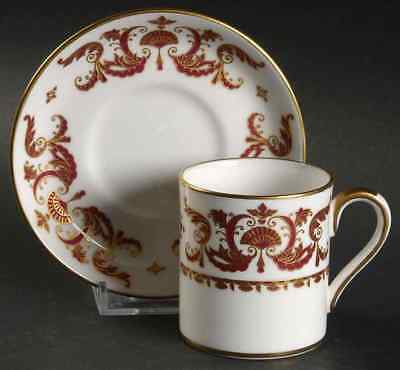 Crown Staffordshire BERKELEY SQUARE Demitasse Cup & Saucer 8665445