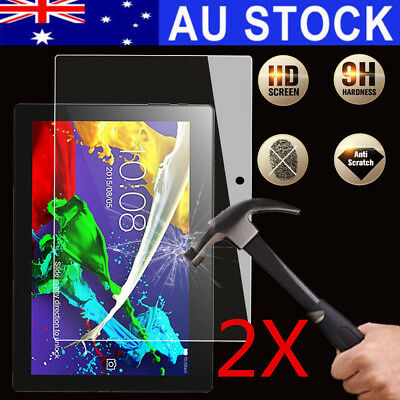 AU 2X Tempered Glass Screen Protector For Lenovo Tab2 A10-30/A10-70F 10'' Tablet