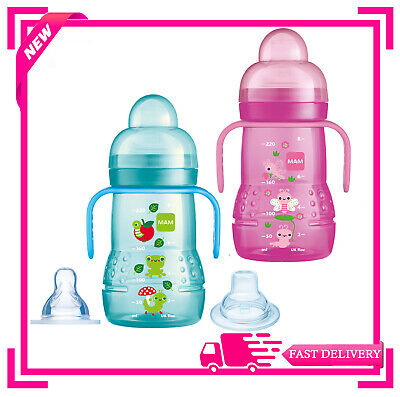 MAM Trainer Bottle Blue,Pink 4+ Months 1 2 3 6 12 Packs Multiple Saving