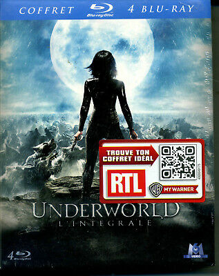 UNDERWORLD L INTEGRALE coffret 4  blu ray neuf ref 19121717