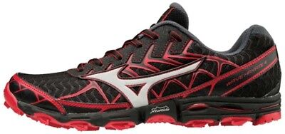 Mizuno Wave Hayate 4 Mens Trail Running Shoes - Black/Silver/Formula One