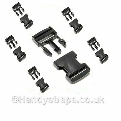 6 x 20mm Plastic Side Release Buckles for webbing  Quick Release Buckles Clip