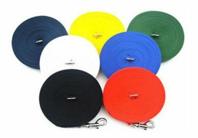 1, 2.5, 5, 10, 15, 25 meters Long Dog & Horse Training Lunge Webbing Lead
