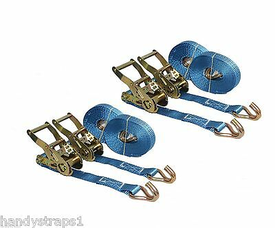 4 x 5m x 25mm  Ratchet Tie Down Straps  1.5 tons Claw Lorry Lashing