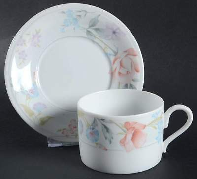 American Limoges FLOWERS Cup & Saucer 317590