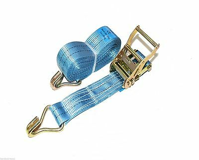 1 x 50mm 6 Meter  Ratchet Tie Down Straps 2 tons Lorry Lashing