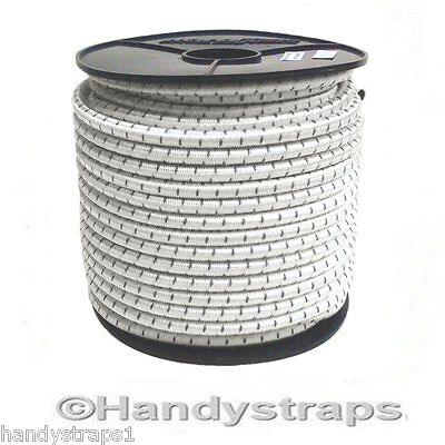 5 meter x 12mm Shock Cord Elastic Bungee Rope White with Black fleck Handy Strap