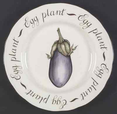 Franciscan VEGETABLE MEDLEY Eggplant Accent Luncheon Plate 1285496