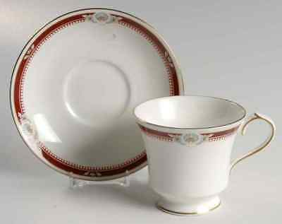 Aynsley SOUTH PACIFIC RED MAROON Cup & Saucer 24237