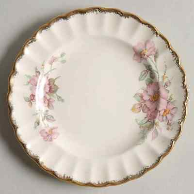 American Limoges WILD ROSE (GOLD TRIM) Bread & Butter Plate 318925
