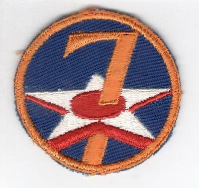 WW 2 US Army 7th Air Force Twill Patch Inv# Z532