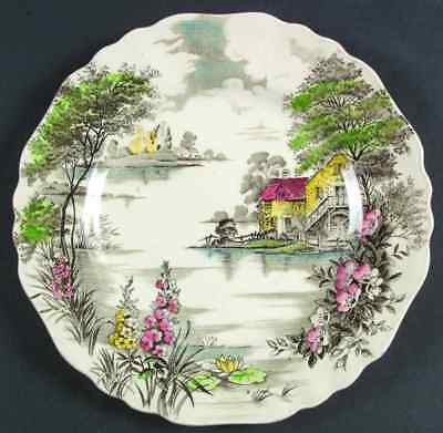 J & G Meakin OLDE AVON DALE (MULTICOLOR WITH YELLOW) Dinner Plate 6163037