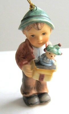 Berta Hummel Christmas Ornament Goebel JOLLY SURPRISE 27 boy jack-in-the-box COA