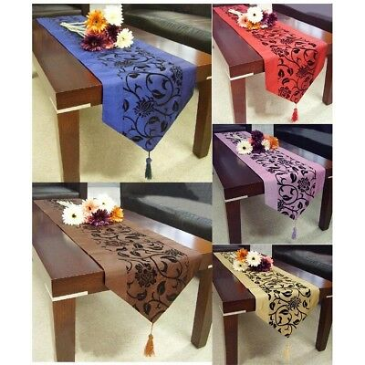 Flower Table Runner Wedding Party Banquet Venue Dining Home Decorations 200*28CM